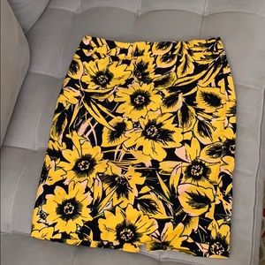 Jcrew factory sunflower pencil skirt